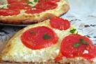 Деревенская пицца с творогом