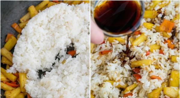 Рис с ананасом и овощами - фото шаг 4