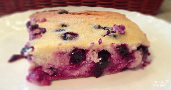 Творожное тесто с ягодами - фото шаг 7