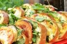 Бутерброды с баклажанами и помидором