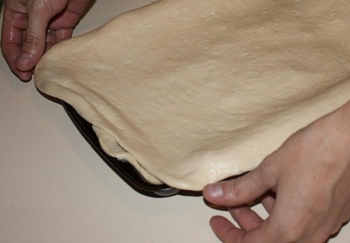 Пирог с капустой и рыбной консервой - фото шаг 12