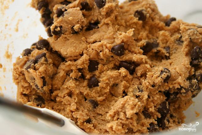 Ванильное печенье с шоколадом - фото шаг 1