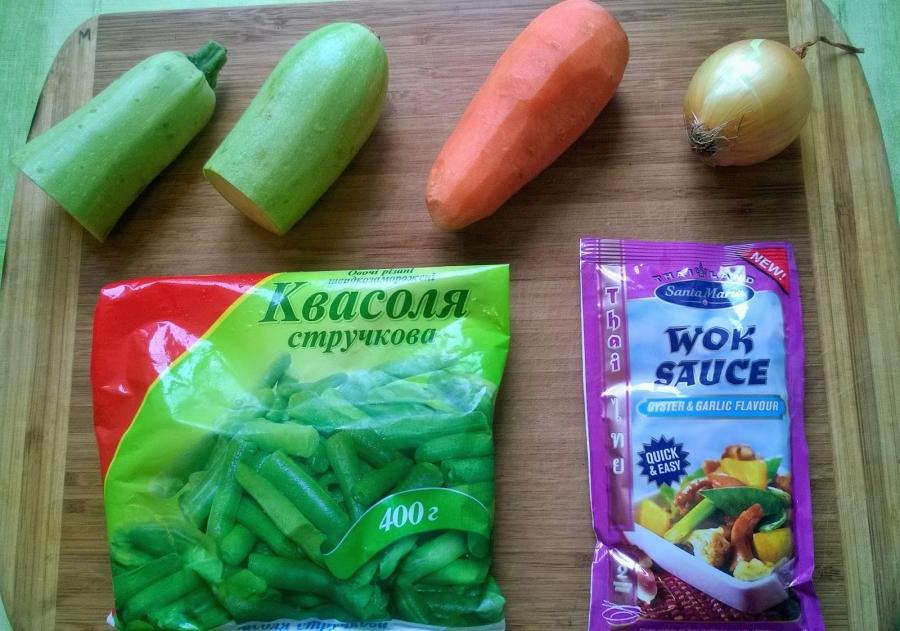 Тушеные овощи под соусом - фото шаг 1