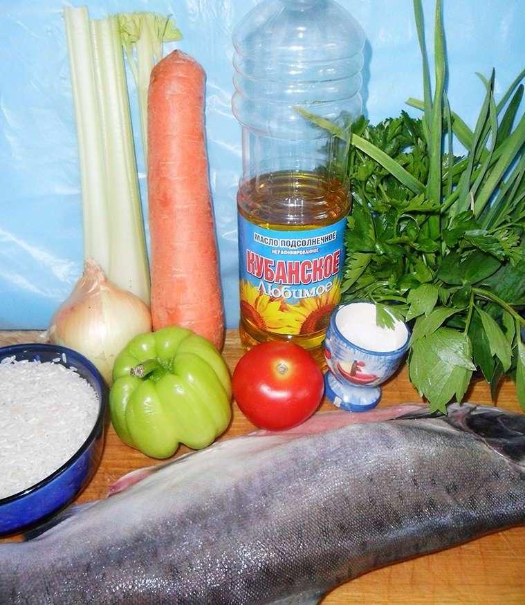 Горбуша в мультиварке с рисом - фото шаг 1