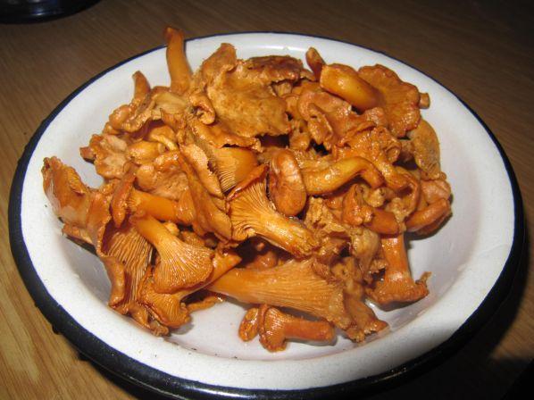 Рецепт Картофельное пюре с лисичками