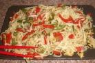 Куриная грудка, тушенная с овощами