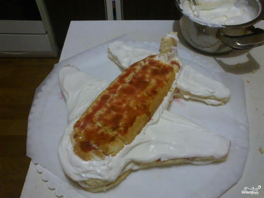 Торт в виде самолета - фото шаг 6