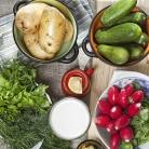 Рецепт Вегетарианская окрошка