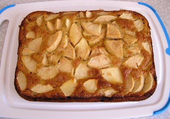 шарлотка с яблоками рецепт с фото с майонезом