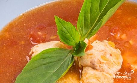 Томатный суп с индейкой - фото шаг 6