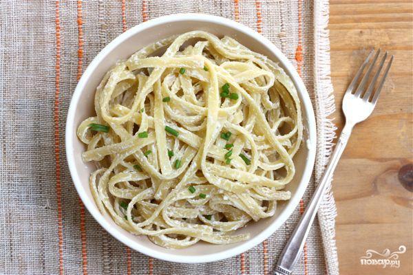 Вегетарианская паста Феттучини Альфредо - фото шаг 3