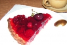 Пирог с ягодным желе