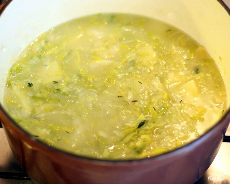 Суп из лука-порея - фото шаг 5