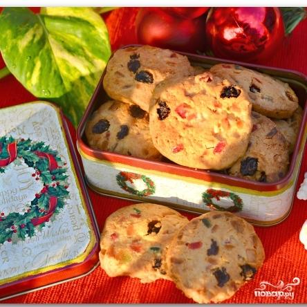 Рождественское печенье с цукатами и орехами - фото шаг 13