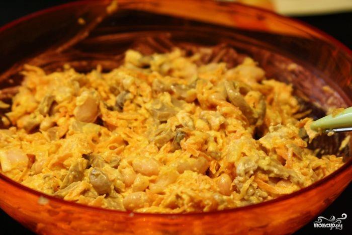 салаты с шампиньонами и фасолью рецепты с фото