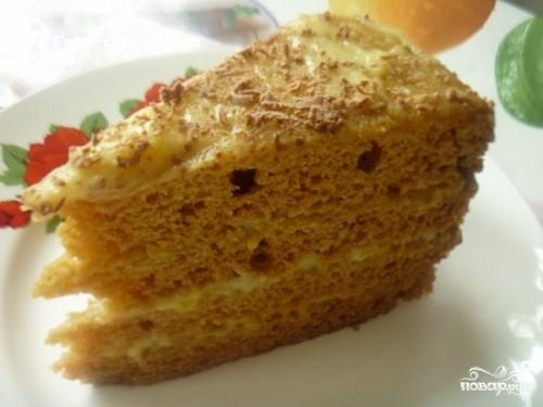 """Торт """"Рыжик"""" в мультиварке"""