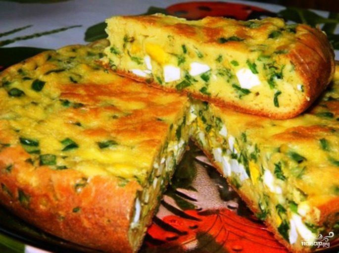 Пирог с капустой и яйцами на кефире