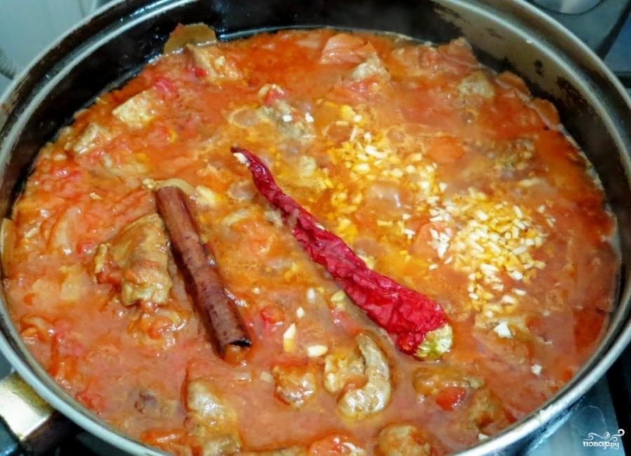 Томатный соус со свининой - фото шаг 5