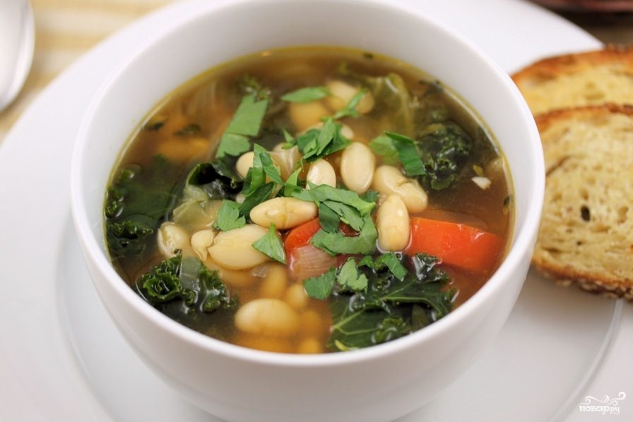 Рецепт Суп из белой фасоли