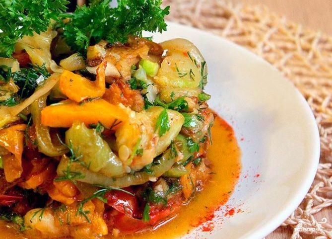 Соте из овощей в духовке