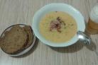 Суп с копчеными крылышками