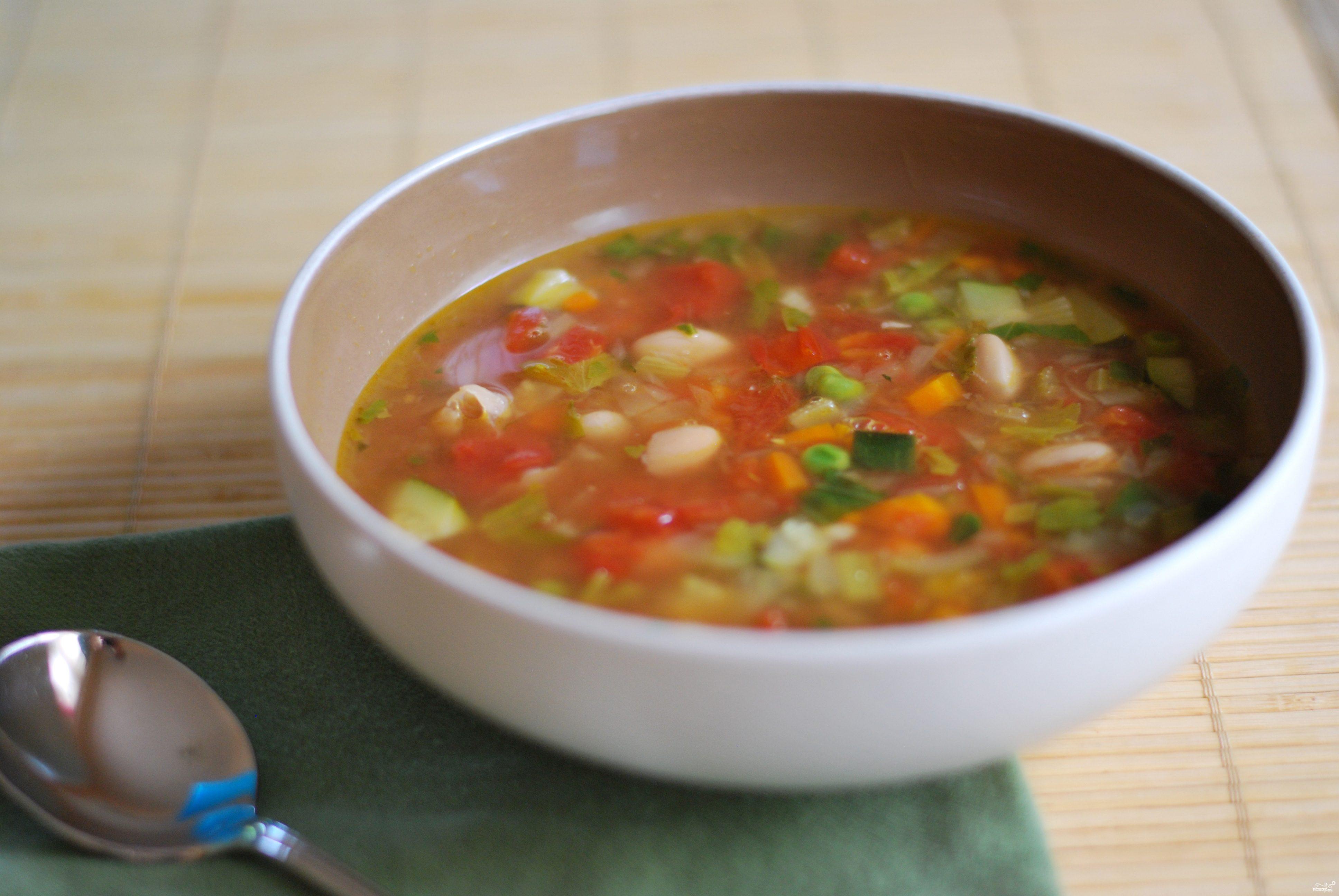 Рецепт Овощной суп с болгарским перцем