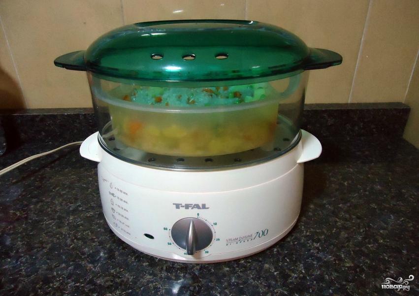 Рис с овощами в пароварке - фото шаг 5