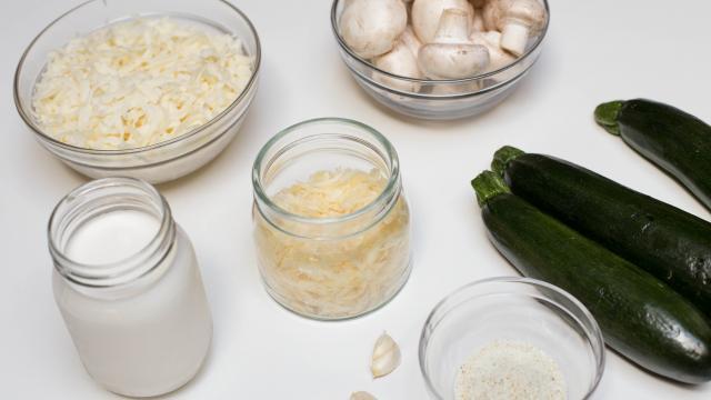 Рецепт Суфле из кабачков под грибным соусом