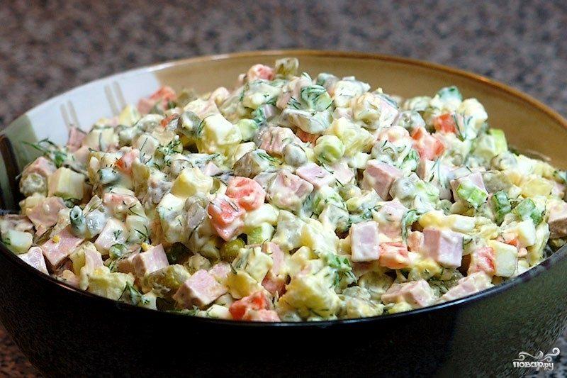 как приготовить зимний салат с мясом