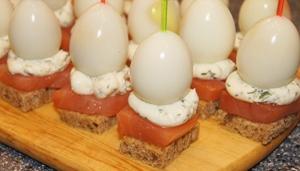 Канапе с перепелиными яйцами - фото шаг 3