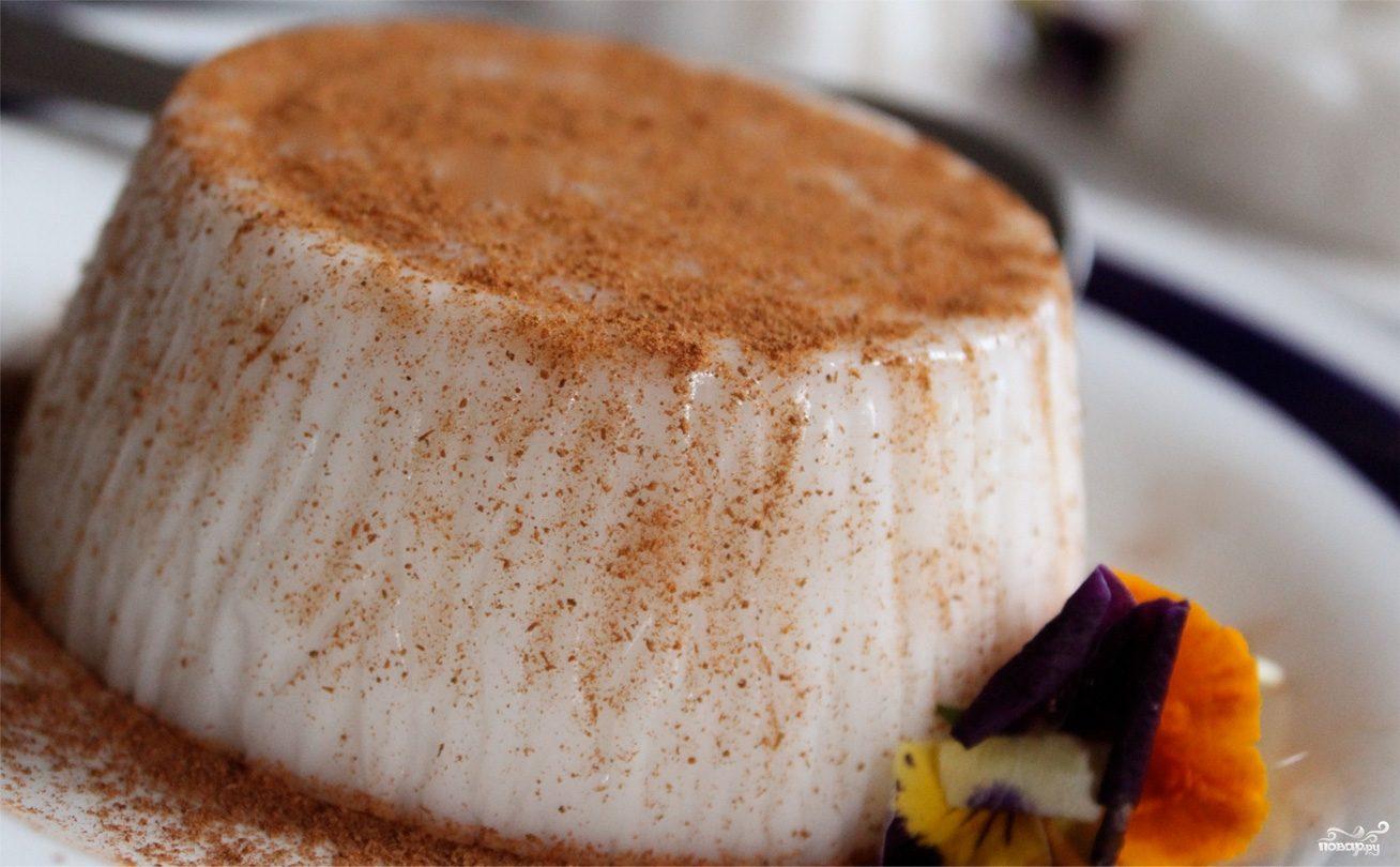 Десерт из сметаны с желатином