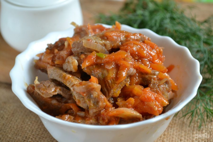 поджарка из говядины с подливкой рецепт с фото пошагово