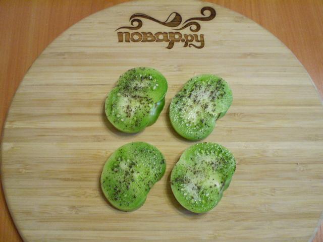 Жареные зеленые помидоры - фото шаг 3