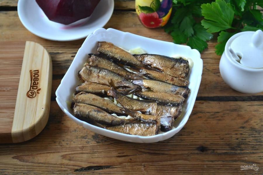 рецепт салат шпроты под шубой рецепт