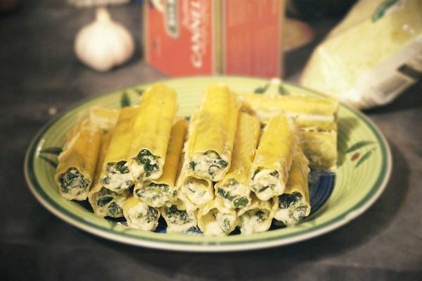 Фаршированные макароны каннеллони рецепт с фото
