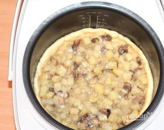 Пирог с картошкой и грибами - фото шаг 4