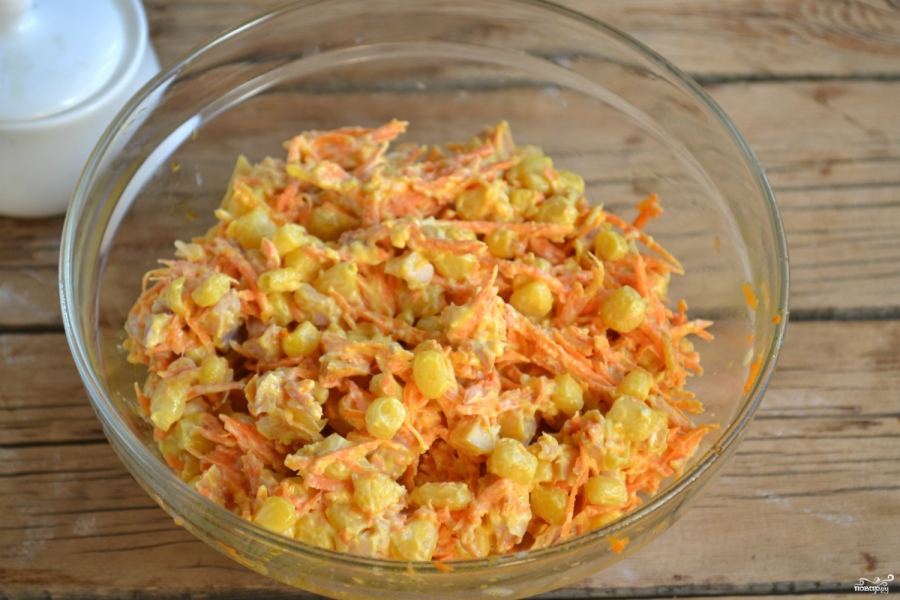 Салат из копченой курицы с морковью по корейски рецепт с простой