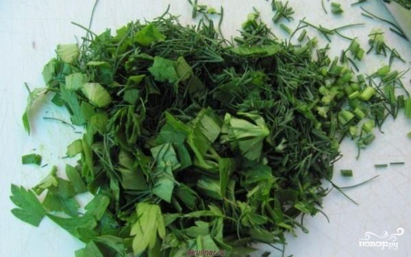 Салат из творога с чесноком - фото шаг 2