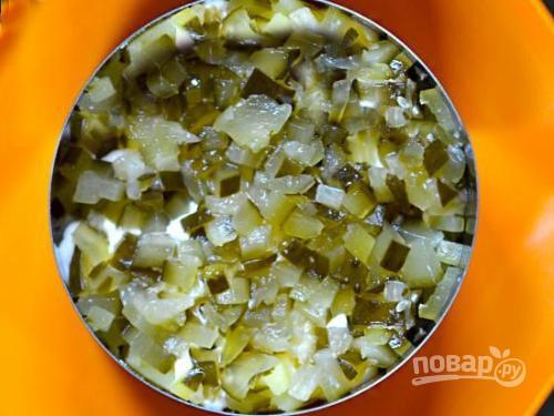 Салат с курицей и апельсинами слоями - фото шаг 2
