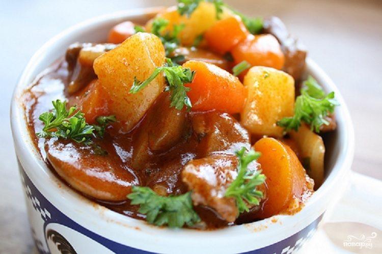 Рецепт Баранина с картофелем в мультиварке