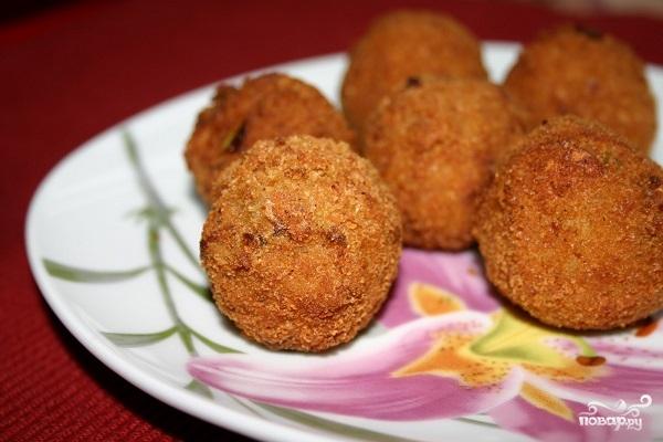 Картофельные шарики с грибами