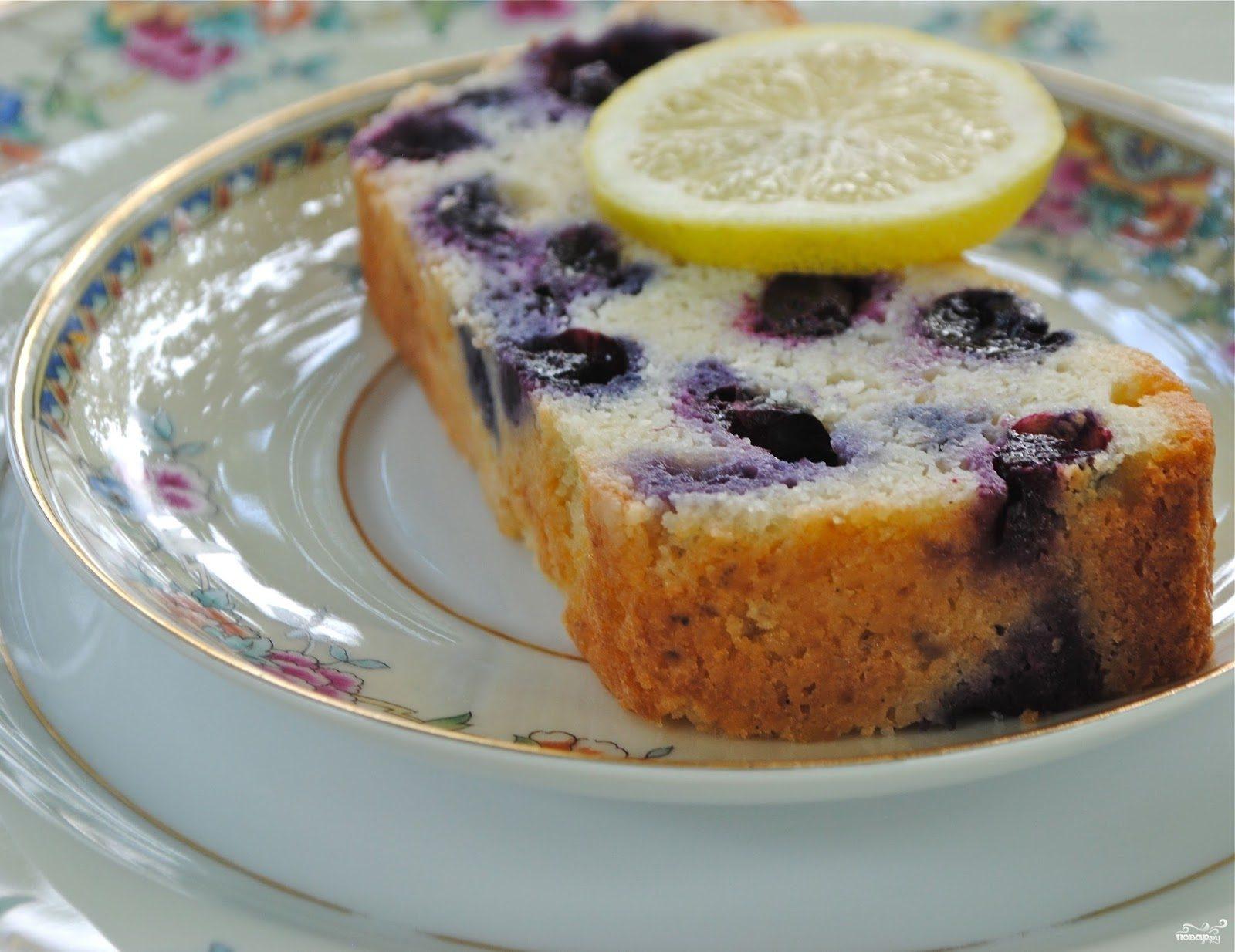 Рецепт Сметанный пирог с черникой