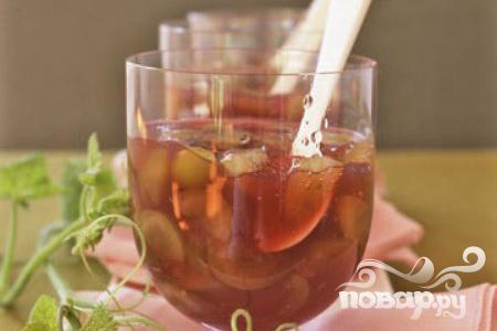 Рецепт Гранатовое желе с виноградом