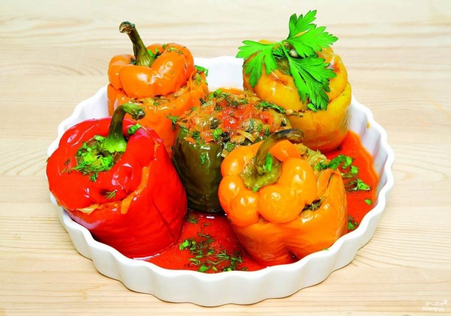 Болгарский перец, фаршированный овощами - фото шаг 6