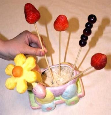 Букет из фруктов своими руками - фото шаг 5