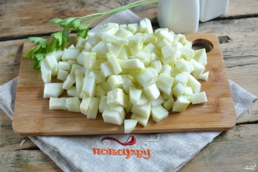 Кабачковая икра с болгарским перцем на зиму - фото шаг 3