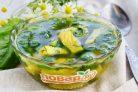 Суп со шпинатом и яйцами