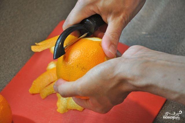Цукаты из апельсиновых корок классические - фото шаг 1