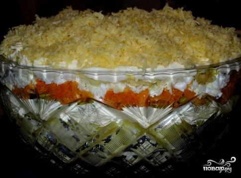 салат из горбуши и сыра рецепт