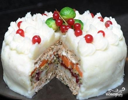 Рецепт Праздничная слоеная запеканка